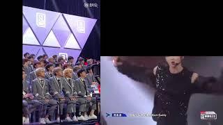 偶像练习生 - Idol Producer Trainees reaction to Mack Daddy perfomance