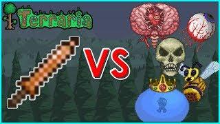 Terraria - Copper Shortsword vs Pre-Hardmode Bosses