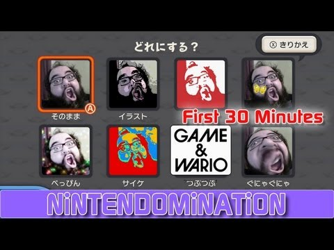 The First 30 Minutes Of Game & Wario For The Wii U