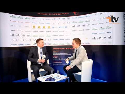 Gewinner des Telematik Awards 2012 - die Funkwerk eurotelematik GmbH. Zum Interview begrüßte Peter Klischewsky, Chefredakteur der Fachzeitung Telematik-Markt.de, den Funkwerk-Geschäftsführer Thomas Piller.