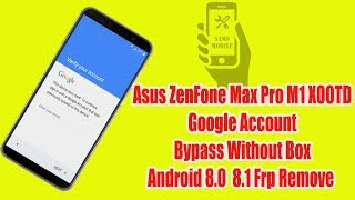 how to bypass google account on asus zenfone max plus m1