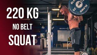 220 kg Squat | Marin Gasnier (85kg)