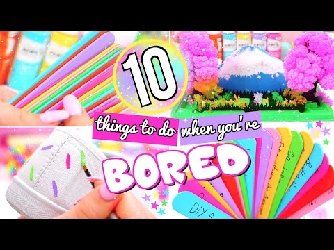 10 FUN THINGS TO DO WHEN YOU'RE BORED! WHAT TO DO WHEN BORED!