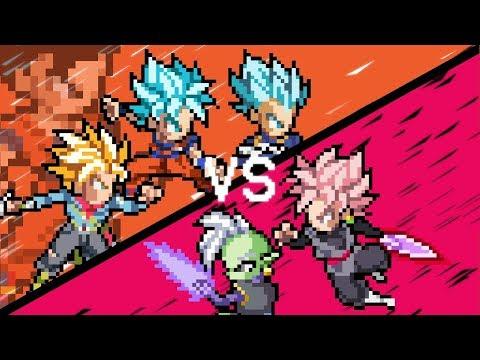 Gohan V.S. Goku Black - Part II (Dragon Ball Super - Sprite Animation)