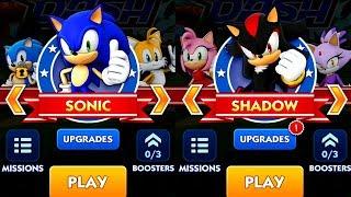 Sonic Dash SONIC VS SHADOW Android iPad iOS Gameplay HD