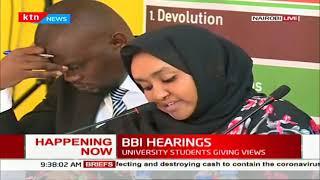 Kenyan university students make constitutional amendments recommendations before BBI team