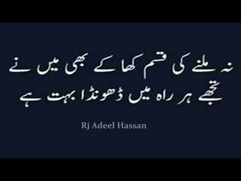 Two Line Urdu sad poetry|Most heart touching collection of 2 line poetry|Adeel Hassan|Urdu Poetry|