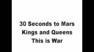 Kings and Queens Lyrics - 30 Seconds to Mars