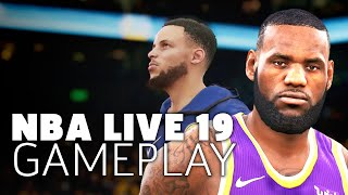 NBA Live 19: LeBron's Lakers Vs. Steph Curry's Warriors Gameplay