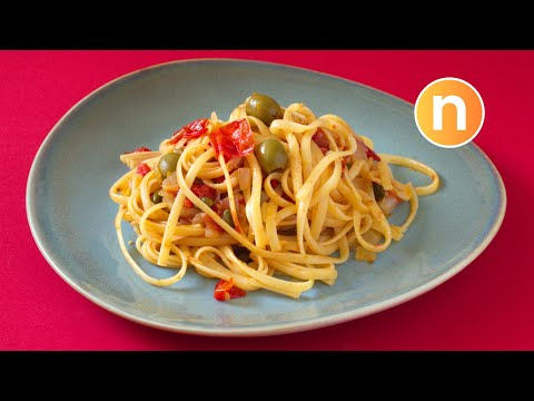 Spaghetti with Olives and Capers [Nyonya Cooking]
