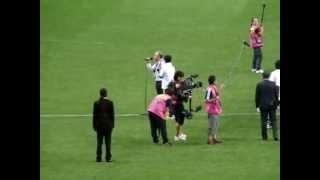 ザッケローニ日本語ご挨拶水かけ日本代表×オーストラリア代表W杯アジア最終予選