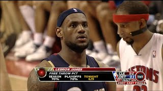 LeBron James Full Highlights 2007 ECF G5 at Pistons - 48 Pts, Scores Last 25 Pts, Must Watch!!!