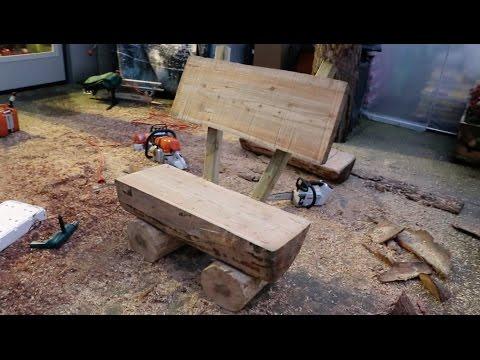 Come Costruire una Panchina da Giardino con Tronchi di Legno