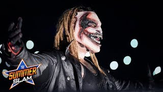 """""""The Fiend"""" Bray Wyatt debuts against Finn Bálor at SummerSlam with a haunting new entrance. Courtesy of WWE Network.  #SummerSlam  GET YOUR 1st MONTH of WWE NETWORK for FREE: http://wwe.yt/wwenetwork --------------------------------------------------------------------- Follow WWE on YouTube for more exciting action! --------------------------------------------------------------------- Subscribe to WWE on YouTube: http://wwe.yt/ Check out WWE.com for news and updates: http://goo.gl/akf0J4 Find the latest Superstar gear at WWEShop: http://shop.wwe.com --------------------------------------------- Check out our other channels! --------------------------------------------- The Bella Twins: https://www.youtube.com/thebellatwins UpUpDownDown: https://www.youtube.com/upupdowndown WWEMusic: https://www.youtube.com/wwemusic Total Divas: https://www.youtube.com/wwetotaldivas ------------------------------------ WWE on Social Media ------------------------------------ Twitter: https://twitter.com/wwe Facebook: https://www.facebook.com/wwe Instagram: https://www.instagram.com/wwe/ Reddit: https://www.reddit.com/user/RealWWE Giphy: https://giphy.com/wwe"""