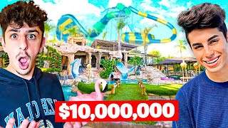 Visiting YouTuber Houses! **insane backyard waterpark**