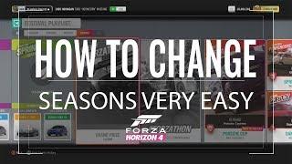 HOW TO CHANGE SEASON IN FORZA HORIZON 4