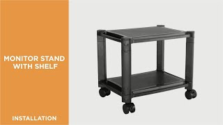 How to Install Mobile Modular Multi-Purpose Smart Stand with Shelf - AMS-4