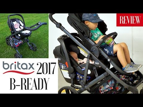 BRITAX 2017 B-READY STROLLER REVIEW | Double Stroller w/ Car Seat + Stroller Board