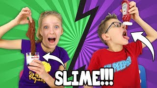 Making FOOD out of SLIME!!!!