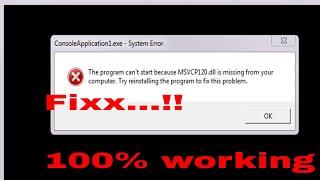 msvcp120.dll is missing windows 10 64 bit