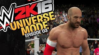 WWE 2K16 Universe Mode  Episode 03 - Number One Contender Tournament (Xbox One / PS4 Gameplay)