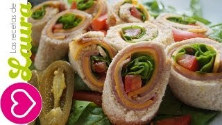 Sandwich De Rollito ♥ Botanas Para El Mundial ♥ Sandwich Rollups
