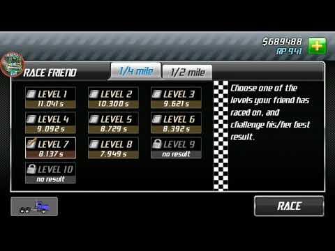 Drag racing Godzilla level 8   1/4 mile 8 068 - смотреть