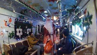 Новогодний поезд метро. Кольцевая линия. 2016 год.