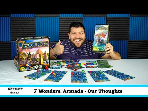 Never Bored Gaming - Our Thoughts (7 Wonders Armada)
