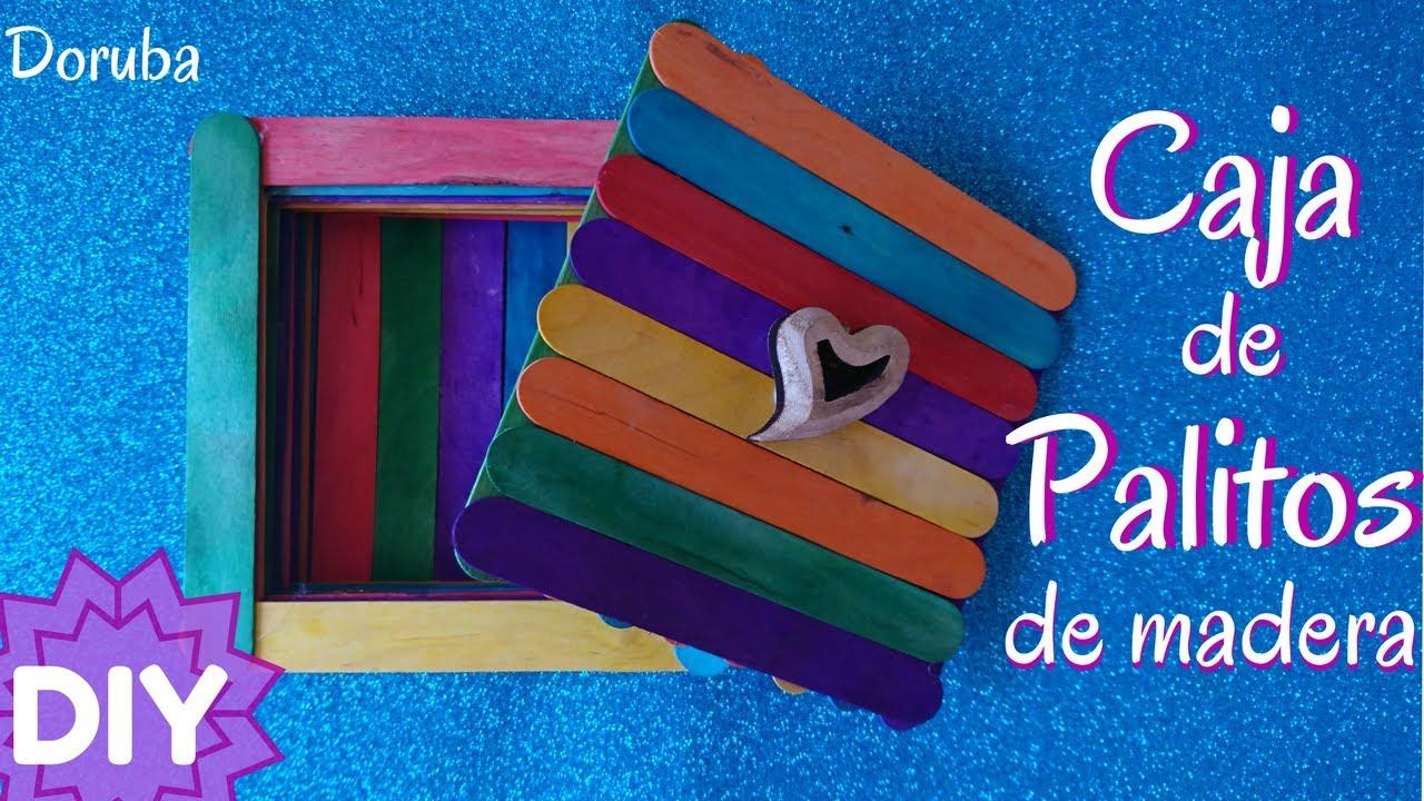 Caja de palitos de madera - DIY - Idea Manualidad fácil para niños - Doruba