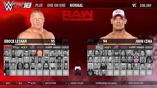WWE 2K18 Concept: Main Menu and Roster (RAW, SmackDown, NXT, 205, Legends)