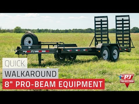 2020 PJ Trailers 8 in. Pro-Beam Equipment (H4) 24 ft. in Elk Grove, California - Video 1