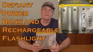 Defiant Rechargeable Flashlight and Power Bank Review