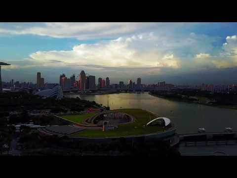 Singapore Marina Bay Sunset 4K