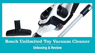 Bosch Unlimited Cordless Toy Vacuum Cleaner By Theo Klein Unboxing & Demonstration