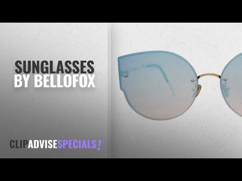 Top 10 Bellofox Sunglasses [2018]: Bellofox Latest Cateye Fashion Style Blue Polarized Mirrored