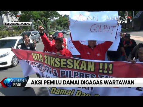 Wartawan di Semarang Kampanyekan Pemilu Damai