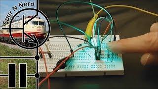 Modelleisenbahn-Elektronik - Teil 13.2 - Zugdetektion - Schaltplan für eine IR-Lichtschranke
