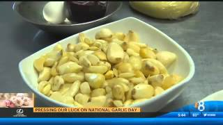Pressing our luck on National Garlic Day by CBS News 8 San Diego