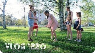 Влог 13.05.18 Первые шашлыки | Прыгали в резиночку