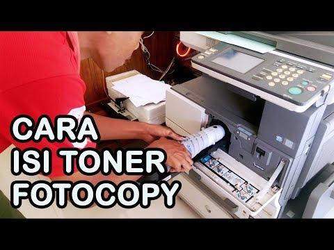 Cara Mudah Isi Tinta / Toner Mesin Fotocopy Konica Minolta Bizhub 350