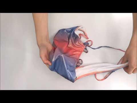 Jedinečné jednodílné plavky Rionella růžovomodrá - Obsessive