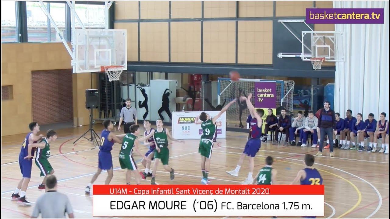 EDGAR MOURE (´06) Infantil FC Barcelona 1,75 m. Torneo Sant Vicenç de Montalt (BasketCantera.TV)