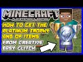 Minecraft PS4: ✔ How To Get The Platinum Trophy *Easy* And OP Items From Creative (GOD GLITCH)