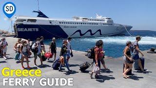 Guide to Greek Ferries  - Athens to Santorini, Mykonos & The Greek Islands