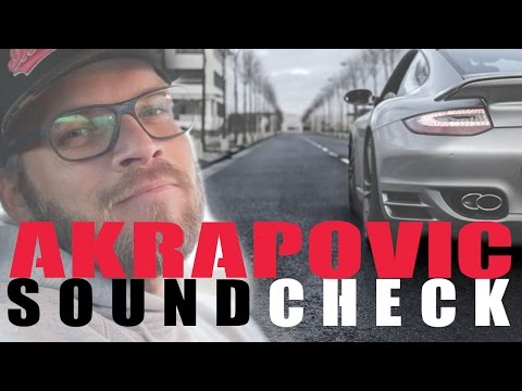 Porsche 997 Turbo - Akrapovic (Komplett Titan Anlage) Soundcheck
