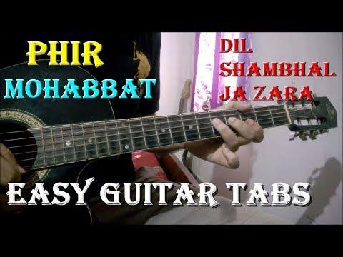 Phir Mohabbat (Murder 2) - Easy Guitar Tabs | Beginners Lesson