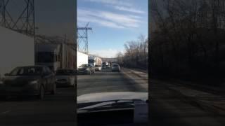Тольяттинская ГЭС. Ремонт дороги. Скоро будет жопа.