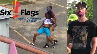 Huge Fight + Phone Confiscation at Nitro - Six Flags GAdv