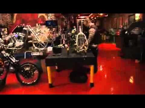 Jesse James of West Coast Choppers welds....